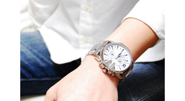 ディーゼルメタルバンド腕時計