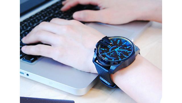 ディーゼル革ベルト腕時計
