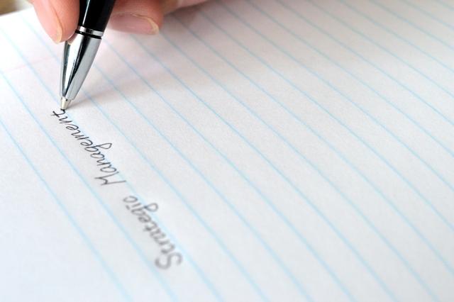 ボールペン書くためのコツ