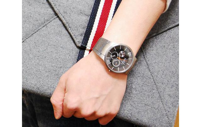 スカーゲンクロノグラフ腕時計