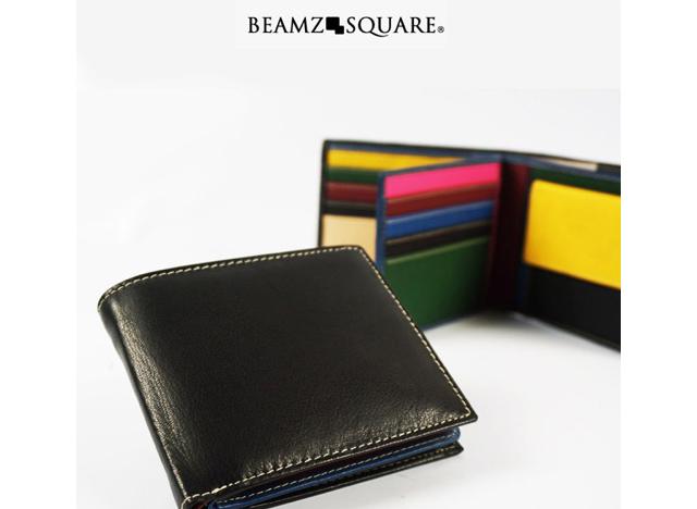ビームズスクエア二つ折り財布