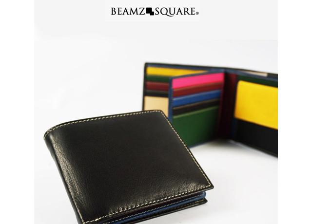 ビームズスクエア二つ折財布