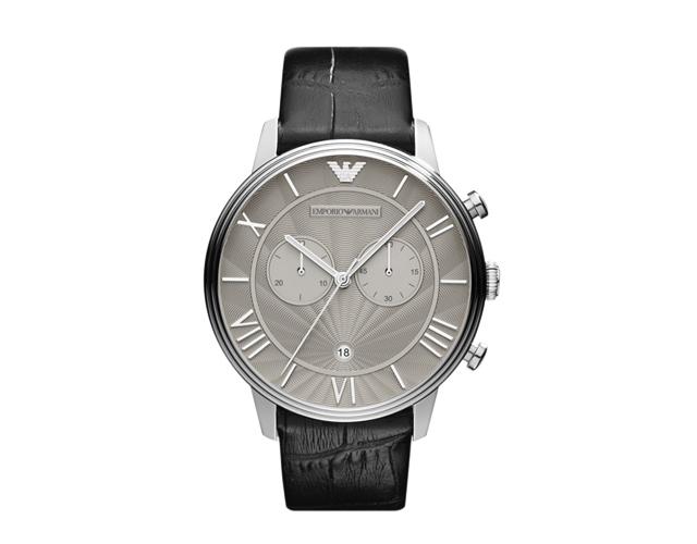 エンポリオアルマーニ革バンド腕時計