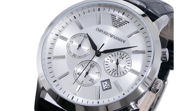 エンポリオアルマーニのクオーツ腕時計は高級感と清潔感が漂う