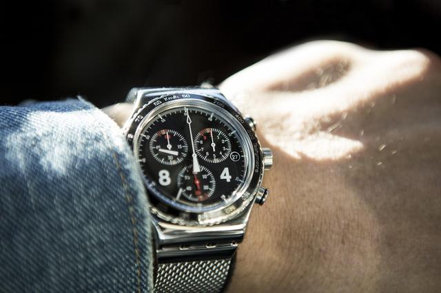 ビッグフェイス腕時計