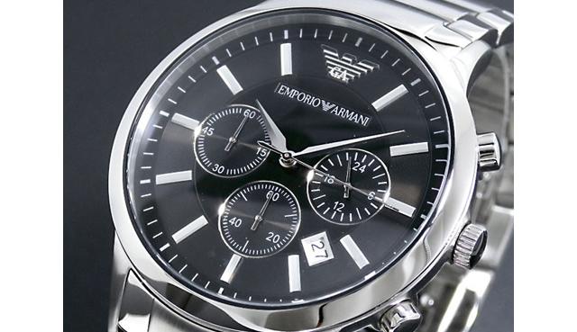 エンポリオアルマーニ メタルバンド腕時計