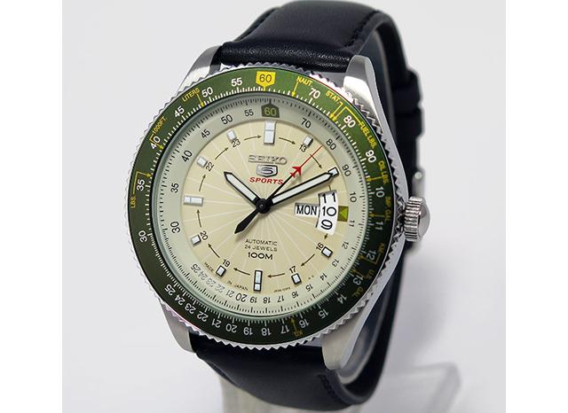 セイコー5革ベルト腕時計