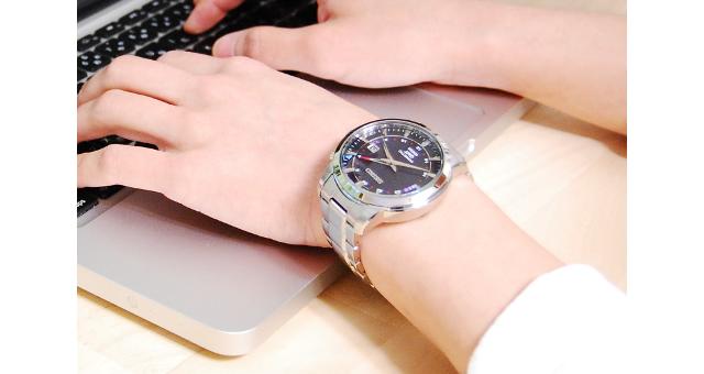 セイコーキネティック腕時計
