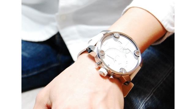 ディーゼル レザーバンド腕時計