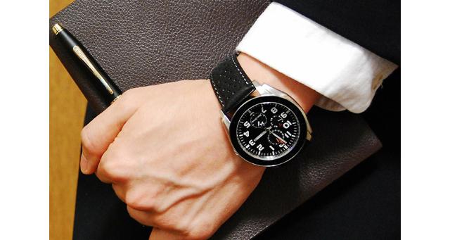 シチズン革ベルト腕時計