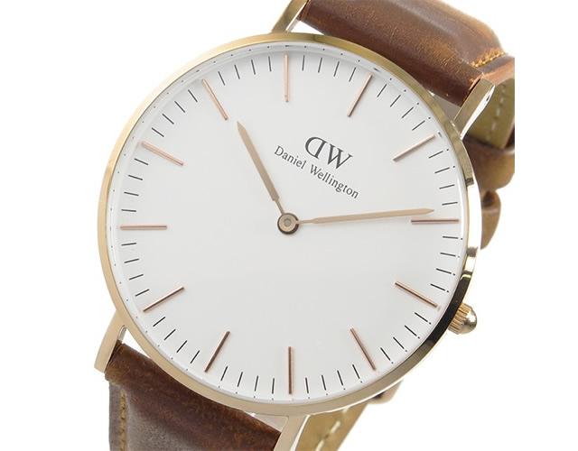 ダニエルウェリントン革ベルト腕時計