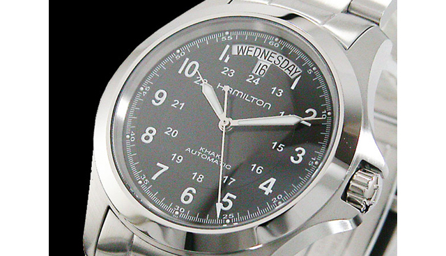 ハミルトンメタルバンド腕時計