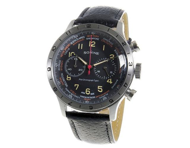 ゾンネクロノグラフ腕時計