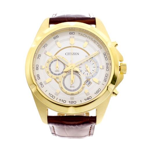 シチズン CITIZEN 腕時計 メンズ AN8043-05A クォーツ ホワイト ブラウン
