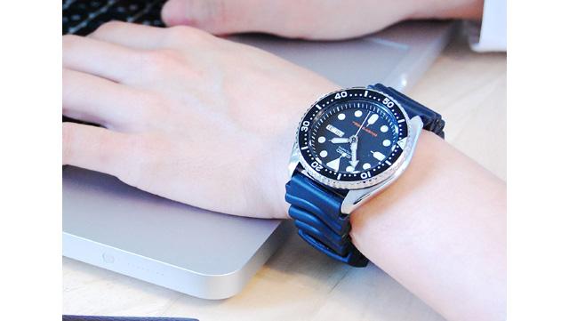 セイコーラバーベルト腕時計