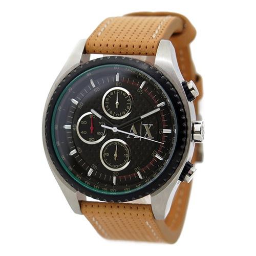 アルマーニ エクスチェンジ クオーツ クロノ メンズ 腕時計 AX1608 ブラック