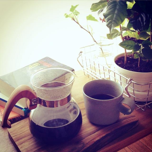 コーヒーマシーンを使ったインテリア