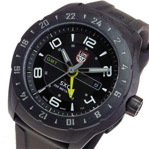 ルミノックス LUMINOX SXC GMT クオーツ メンズ 腕時計 5021 ブラック