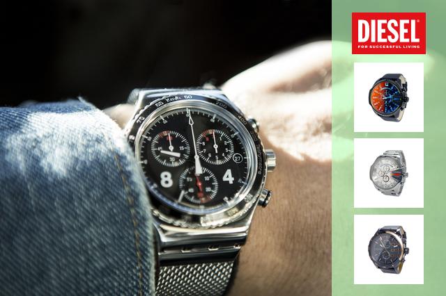 ビックフェイスでカッコイイディーゼル腕時計ランキング