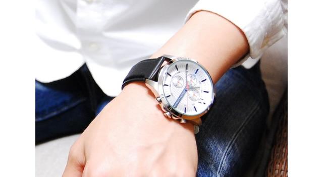 アニマールエクスチェンジ革ベルト腕時計