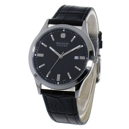スイスミリタリー SWISS MILITARY クオーツ メンズ 腕時計 ML-307 ブラック