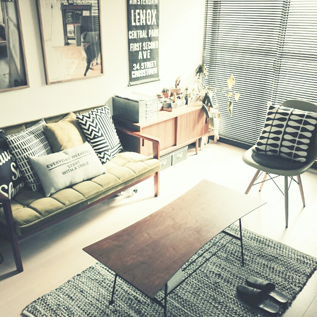 レトロモダンの部屋