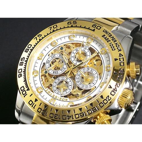 ジョンハリソン JOHN HARRISON 自動巻き 腕時計 JH003-GW 石付き