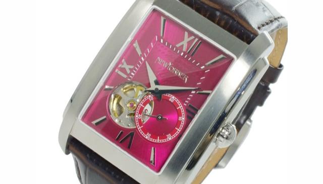 大胆さもありシックなニューヨーカー腕時計