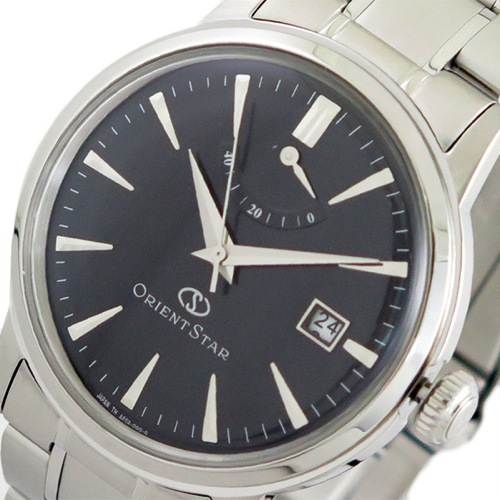 オリエントスター ORIENT STAR 腕時計 メンズ SAF02002B0 自動巻き ブラック シルバー