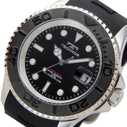 テクノス TECHNOS ダイバー クオーツ メンズ 腕時計 T4418SB ブラック