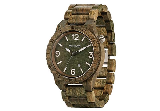 使われている木材が珍しい腕時計
