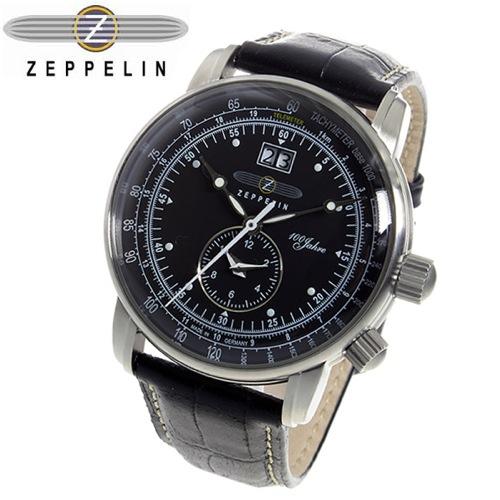 ツェッペリン 100周年 記念モデル LZ1 クオーツ メンズ 腕時計 7640-2 ブラック