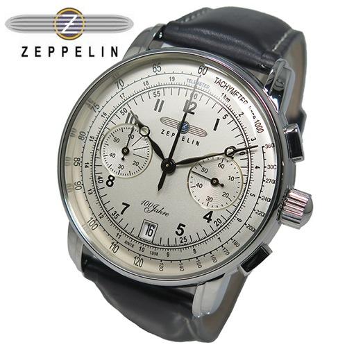 ツェッペリン ZEPPELIN 100周年記念 クオーツ メンズ クロノ 腕時計 7674-1