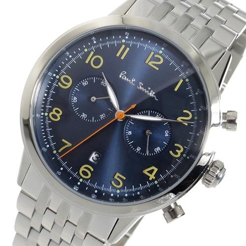 ポールスミス PAULSMITH クロノ クオーツ メンズ 腕時計 P10017 ブルー