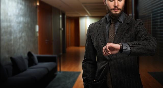 腕の中での存在感がすごい腕時計