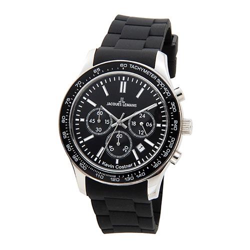ジャックルマン ケビンコスナーモデル クオーツ クロノ メンズ 腕時計 11-1586-6