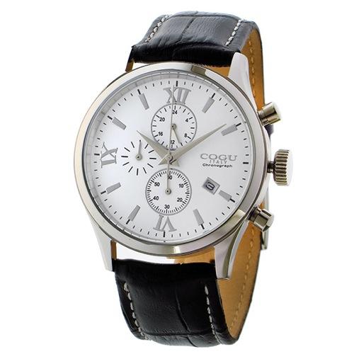コグ クオーツ クロノ メンズ 腕時計 C65-WH ホワイト