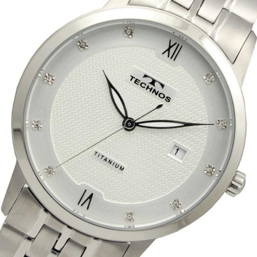 テクノス TECHNOS チタン クオーツ メンズ 腕時計 T9454IS ホワイト