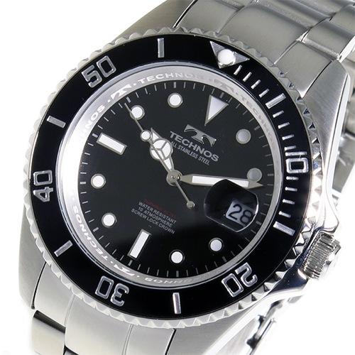 テクノス TECHNOS クオーツ メンズ 腕時計 TSM402SB ブラック