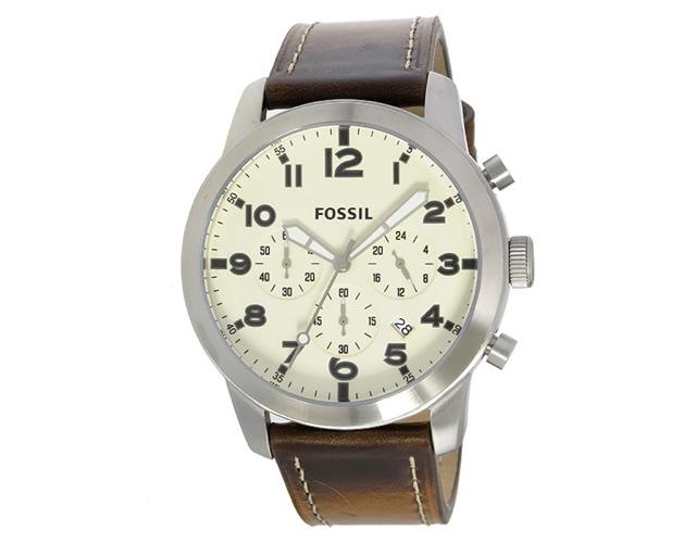 フォッシルの革ベルト腕時計は革の色も様々