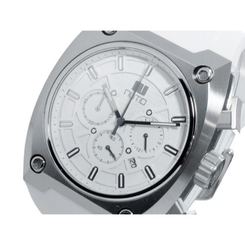 ヌーティッド THE EDGE クオーツ メンズ クロノ 腕時計 N-1402M-E WH