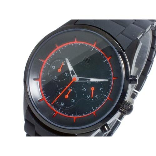 ヌーティッド CRATER クオーツ メンズ クロノ 腕時計 N-1404P-B BK/OR