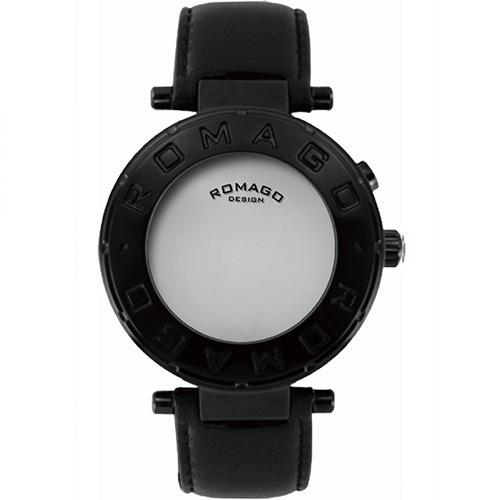ロマゴデザイン フローシリーズ クオーツ メンズ 腕時計 RM002-0055ST-BK ブラック