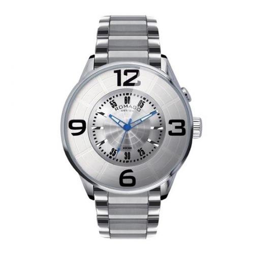 ロマゴデザイン ヌメレーションシリーズ クオーツ メンズ 腕時計 RM007-0053SS-SV シルバー