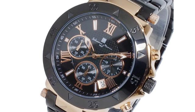 サルバトーレマーラSM8005SS-PGBK腕時計