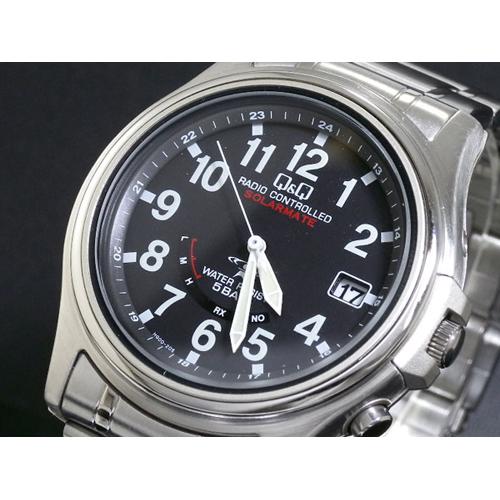 シチズン キューアンドキュー Q&Q 電波 ソーラー メンズ 腕時計 HG00-205