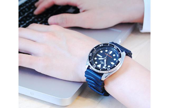 セイコーダイバー腕時計はデザインが男らしくて力強い