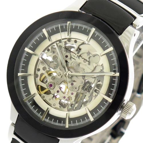 サルバトーレマーラ SALVATORE MARRA 腕時計 メンズ レディース SM17122-SSBK 自動巻き ブラック シルバー