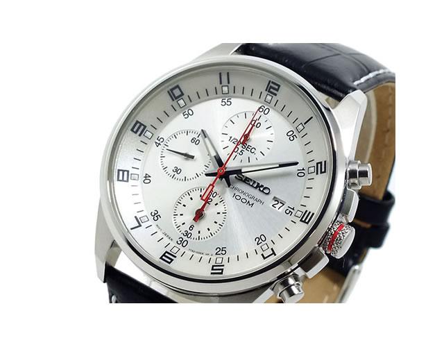 セイコー革腕時計