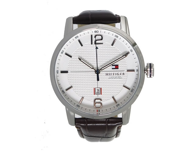 トミーヒルフィガー革ベルト腕時計